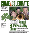 Rosendale Democratic Committee St. Patrick's Day Dinner with the Bedtime Kissers